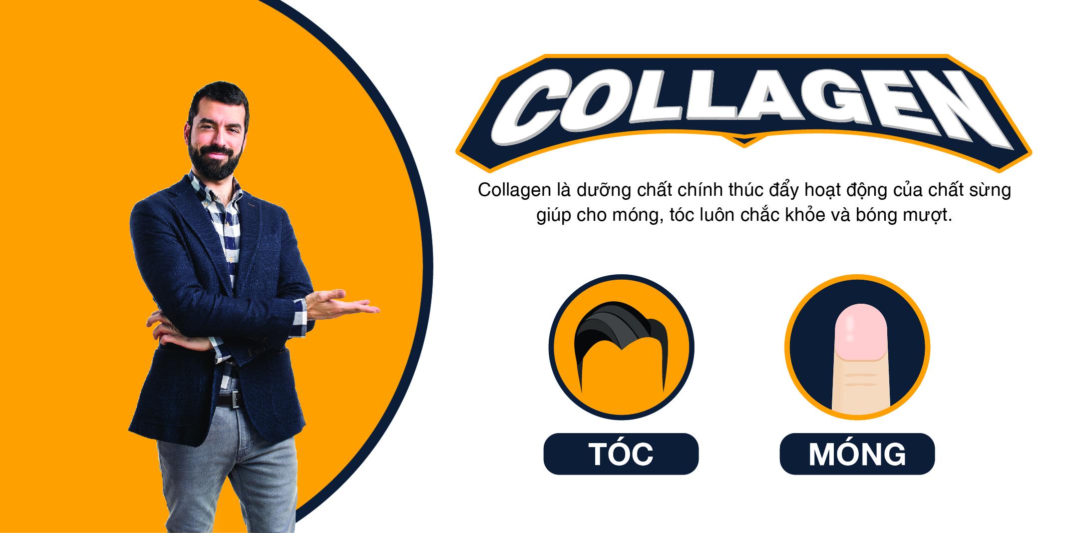 Collagen hỗ trợ sức khỏe da, tóc và móng