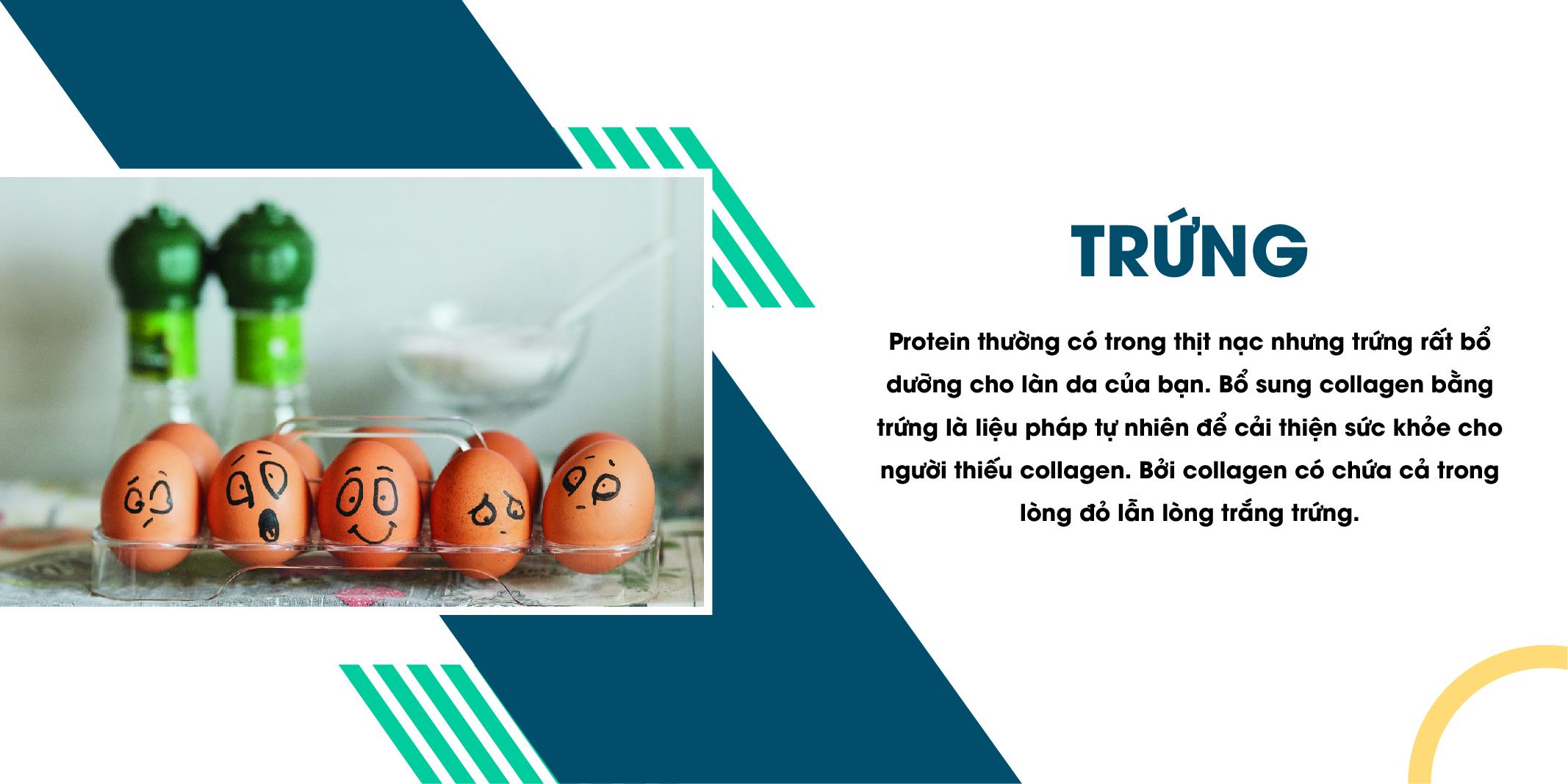 Trứng giàu protein giúp tái tạo collagen