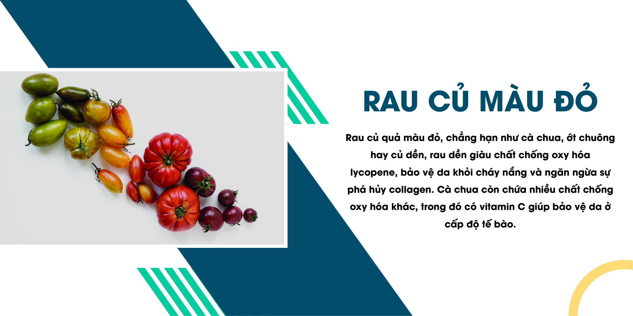 Các loại rau củ có màu đỏ, chống nhăn da