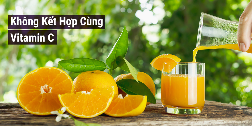 Collagen không kết hợp cùng Vitamin C