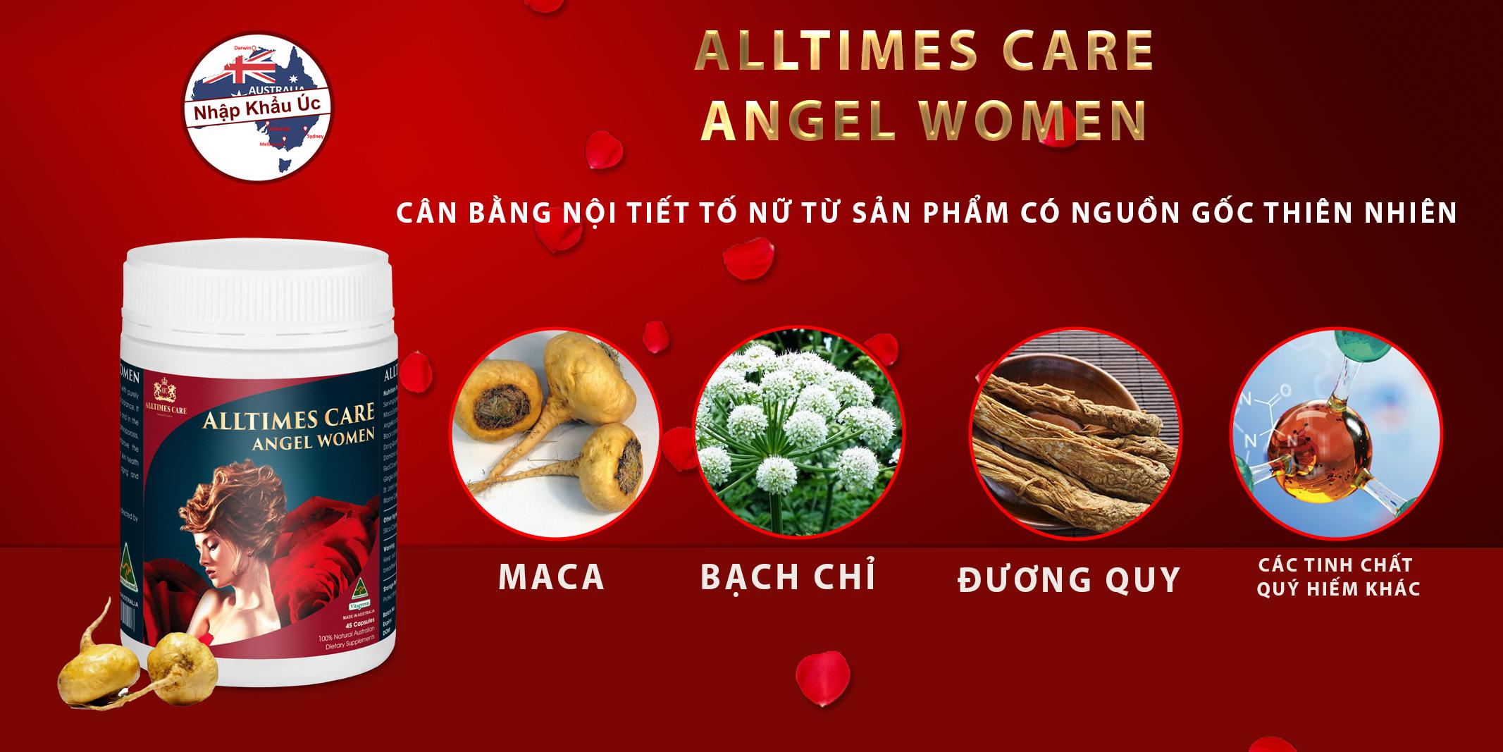 Alltimes Care Angel Women - hỗ trợ cải thiện nội tiết tố nữ